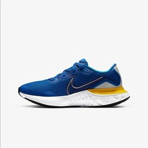 Nike Renew Run Blue and Yellow Sneakers Size 8.5